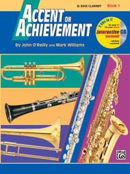 Alfred's Accent on Achievement  B Flat Bass Clarinet Book 1 (w/ CD)