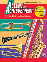 Alfred's Accent on Achievement  Combined Percussion Book 2 (w/ CD)