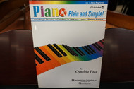 Piano Plain and Simple Volume 1 Adult Beginners (w/ CD)