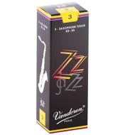 Vandoren ZZ Jazz Tenor Saxophone, Strength 3, 5 Pack