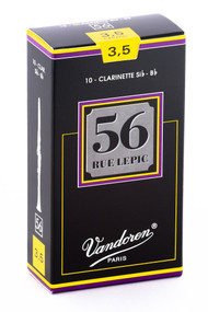 Vandoren 56 Rue Lepic Bb Clarinet Reeds, Strength 3.5, 10 Pack