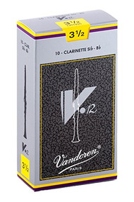 Vandoren V.12 Bb Clarinet Reeds, Strength 3.5, 10 Pack