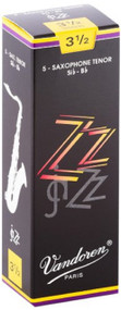 Vandoren ZZ Jazz Tenor Saxophone Reeds, Strength 3.5, 5 Pack