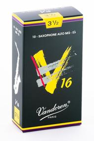 Vandoren V16 Alto Saxophone Reeds, Strength 3.5, 10 Pack