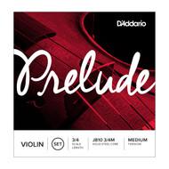 D'Addario Prelude Medium Tension 3/4 Violin String Set