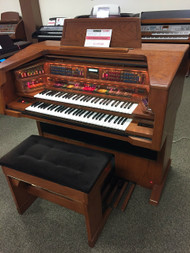 Lowrey Celebration LX500  with Deluxe Bench - Walnut