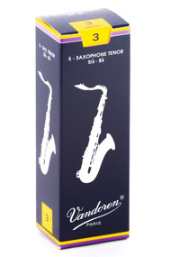 Vandoren Traditional Tenor Saxophone Reeds, Strength 3.0, Box of 5