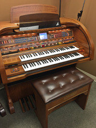 Lowrey Sensation SU430 Organ with Deluxe Bench - Oak