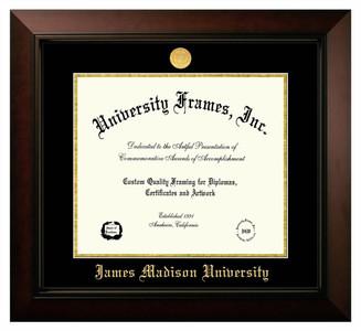 JMU Legacy Diploma Frame withGold Medallion