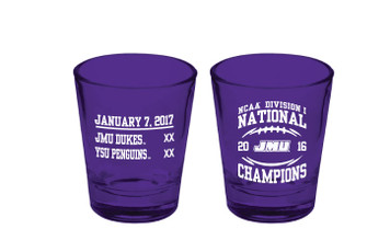 2016 NCAA Purple Shot Glass