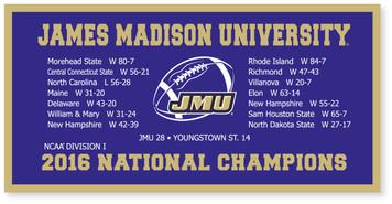 2016 NCAA 18x36 Felt Banner
