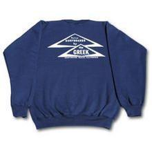Classic Greek Triangle Long Sleeve Crew Sweatshirt