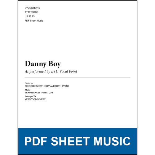 Danny Boy (Arr. by McKay Crockett - TTBB) [PDF Sheet Music]