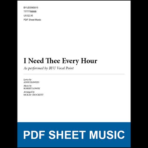 I Need Thee Every Hour (Arr. by McKay Crockett - TTBB) [PDF Sheet Music]