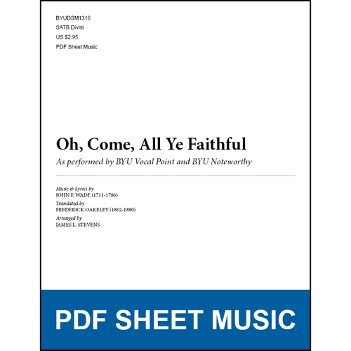 Oh, Come, All Ye Faithful (Arr. by James L. Stevens - SATB) [PDF Sheet Music]