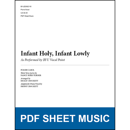 Infant Holy, Infant Lowly (Piano/Vocal) [PDF Sheet Music]