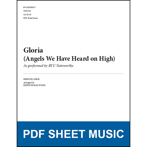 Gloria (Angels We Have Heard on High) (Arr. by Keith McKay Evans - SSAA) [PDF Sheet Music]