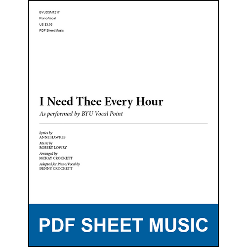 I Need Thee Every Hour (Piano/Vocal) [PDF Sheet Music]