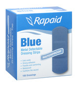 Rapaid Metal Detectable Blue Strips pk 100