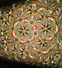 sample interior image as viewed through the Small Floret Dichroic kaleidoscope