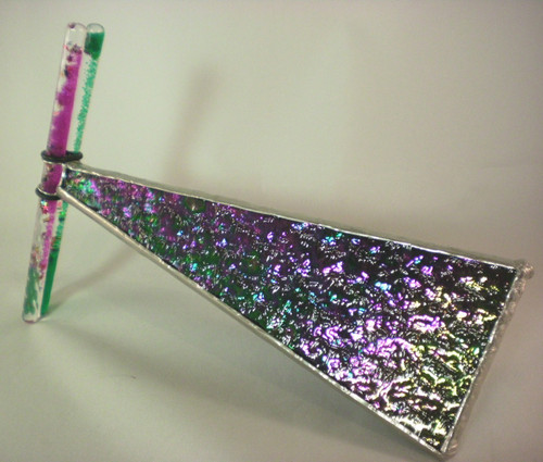 showing its beautiful mix of purples & greens and two matching wands