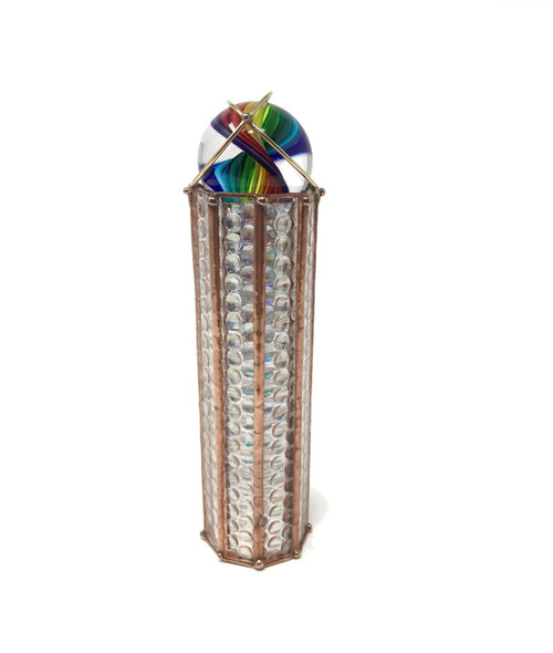 Kaleidoscope 'Marble' in Clear Glass by Sue Rioux Designs