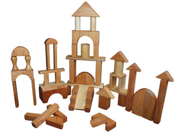 Wooden Block Set - 60 Pieces