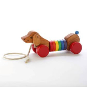 Wooden Wobble Pull Puppy