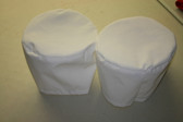 "Winch Covers 2 Large(9""diameter x 5.5"" high) White PTFE Thread"