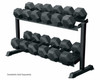 York Barbell 2-Tier Pro-Hex Dumbbell Rack