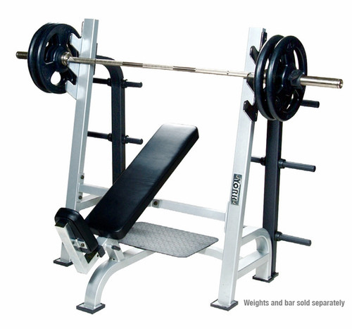 York Barbell STS Olympic Incline Bench with Gun Racks