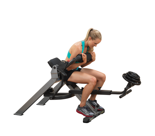 Body Solid Semi-Recumbent Dual Ab Bench (GAB350)