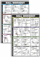 Co-Ed Swiss Ball Workout Chart Kit