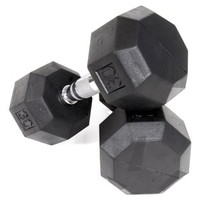Hex 8 Sided Rubber Dumbbells 5 - 100 LB Set