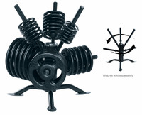 "York ""Spider Rack"" Rotational Olympic Plate Rack"