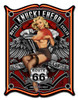 """ROUTE 66  MOTORCYCLES""  METAL  SIGN"