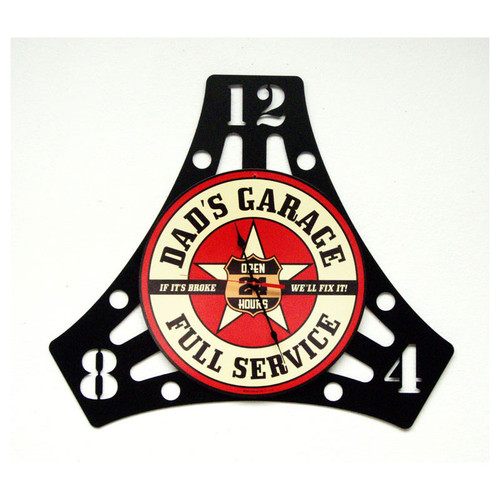 """DAD'S  GARAGE""  CLOCK"