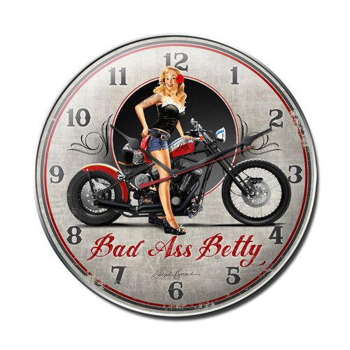 """BAD  ASS  BETTY""  CLOCK"