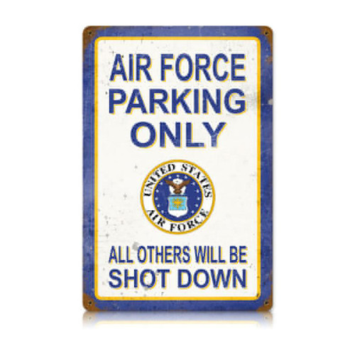 """AIR FORCE PARKING""  VINTAGE METAL SIGN"