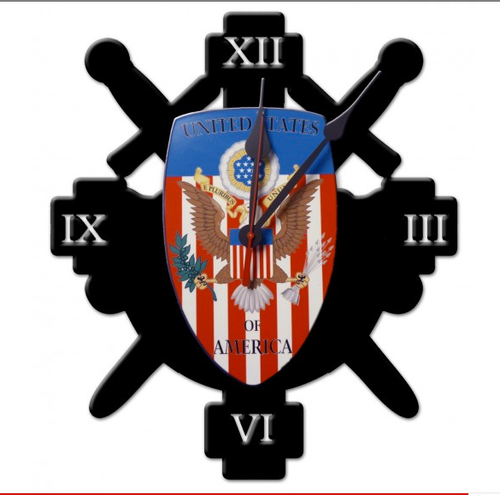 """""""UNITED STATES COAT OF ARMS"""" CLOCK"""