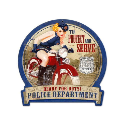 """TO PROTECT AND SERVE""  METAL SIGN"