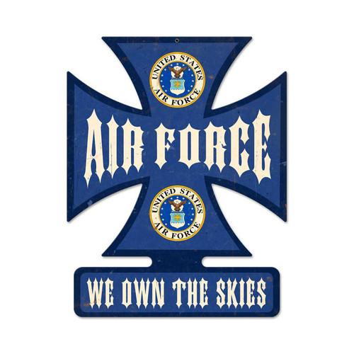 """AIR FORCE--WE OWN THE SKIES"" METAL SIGN"