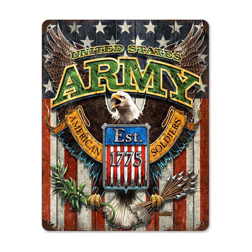"""""""ARMY FIGHTING  EAGLE""""  METAL  SIGN"""