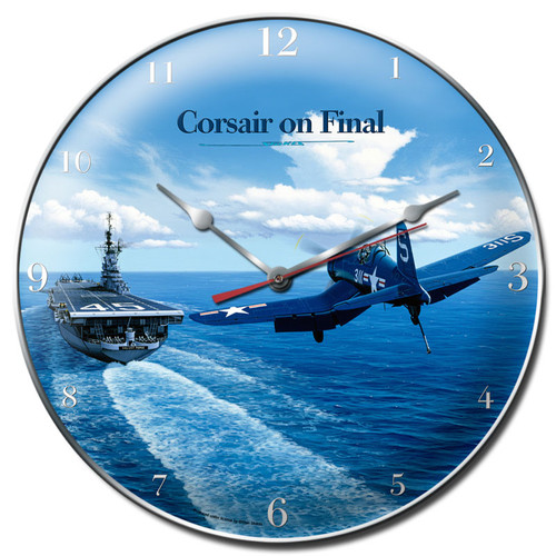 """CORSAIR  LANDING  ON  AIRCRAFT  CARRIER""   CLOCK"