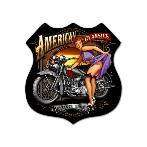"""AMERICAN CLASSICS"" METAL  SIGN"
