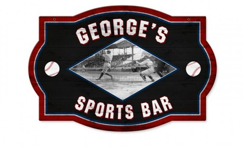 """PERSONALIZED  SPORTS  BAR""  METAL  SIGN"