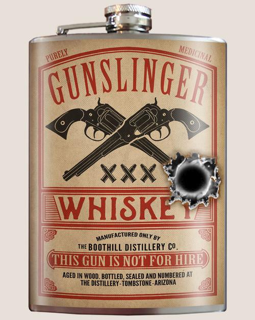 """""""GUNSLINGER  WHISKEY""""  FLASK"""