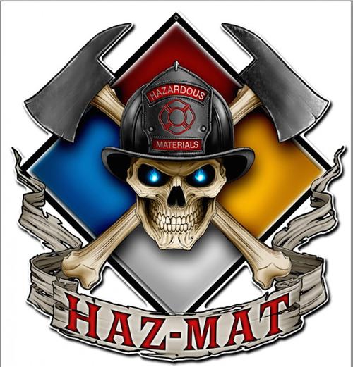 """""""HAZ  MAT""""  METAL SIGN"""