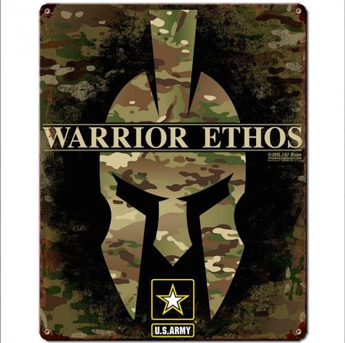 """ARMY  ETHOS""  METAL  SIGN"
