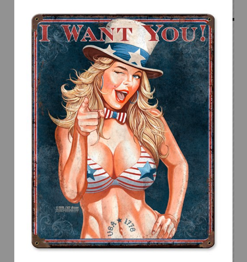 """I  WANT  YOU""  METAL  SIGN"